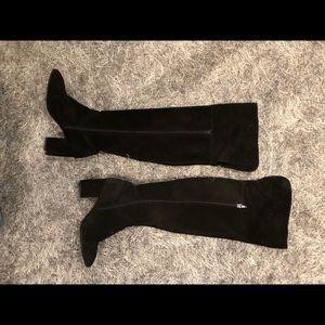 Zara Shoes - Zara black suede over the knee boots